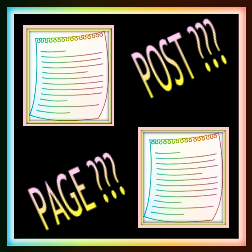 Between a Post and a Page